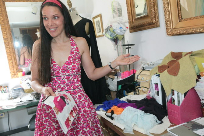 "High fashion corsets designed by Pamela Ptak, pictured, will be featured in the Feb. 6 ""Corsets & Coctails Go Red"" event in Bethlehem. (LehighValleyLive.com/Express-Times Photo 