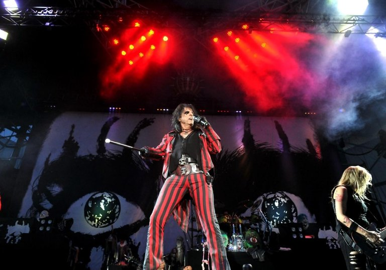 Rock supergroup Hollywood Vampires, fronted by singer Alice Cooper, pictured, will perform July 1 at the Sands Bethlehem Event Center. The band includes actor Johnny Depp and Aerosmith's Joe Perry on guitar.  (LehighValleyLive.com Photo/Bill Adams)