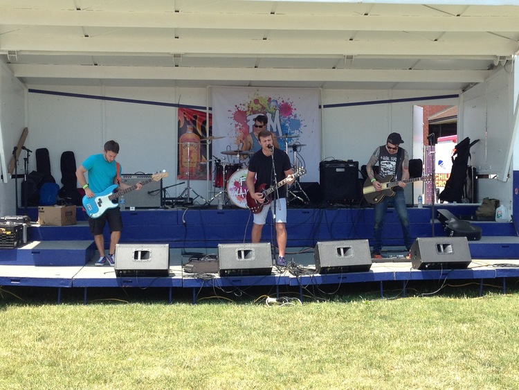 Nazareth-based pop-punk band FM Waves perform during the 2016 Easton River Jam concert in Easton.  (Dustin Schoof Photo)