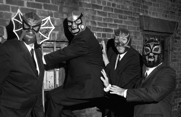 Surf rock band Los Straitjackets will headline the 2016 WNTI Stage festival in Knowlton Township.  (Courtesy Photo)