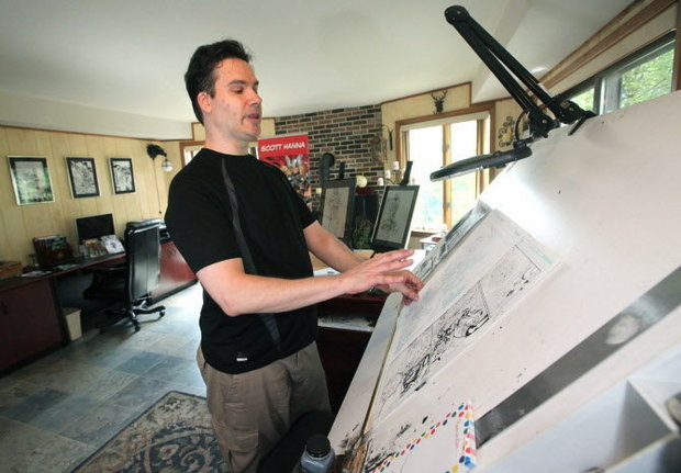 Comic book inker Scott Hanna, pictured, will appear Aug. 6 at Lehigh Valley Comic Con in North Whitehall Township.  (LehighValleyLive.com File Photo)