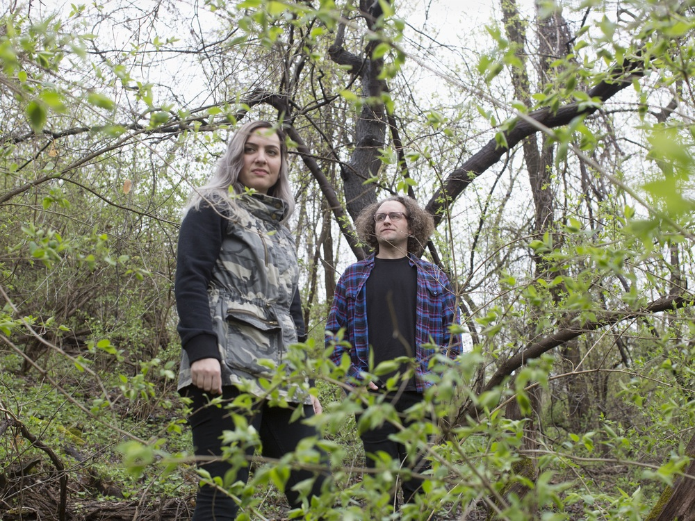 "Bethlehem-based music duo Slingshot Dakota has released a music video for its single, ""Paycheck."" The clip was filmed in Easton's West Ward district.  (Courtesy Photo)"