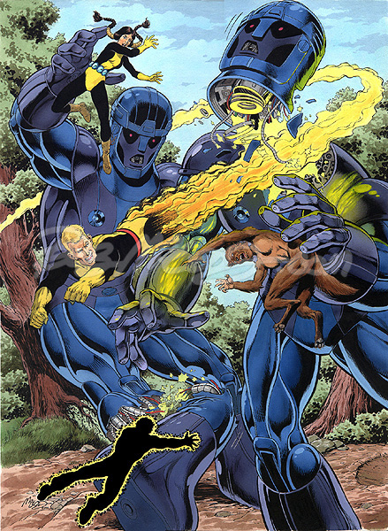 """New Mutants"" art by Bob McLeod. (Courtesy Image)"