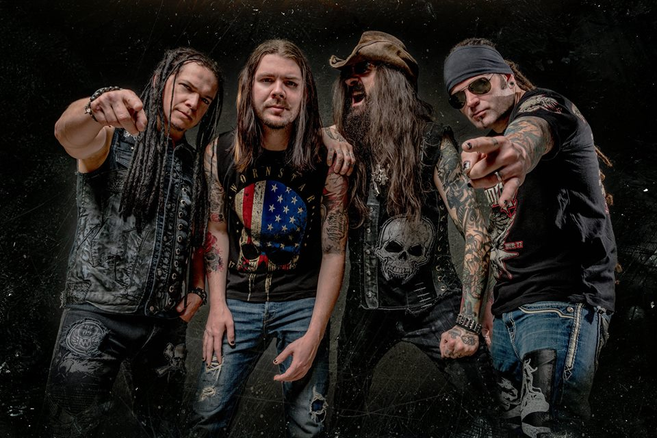 Saliva front-man Bobby Amaru, second from left, will perform Jan. 27 at the Gin Mill & Grille in Northampton. (Stephen Jensen Photo | F3 STUDIOS)