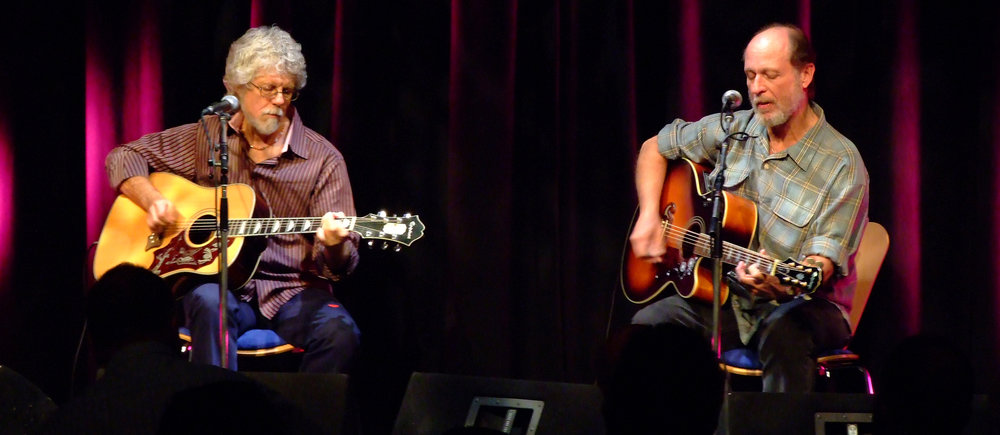 Little Feat guitarists Fred Tackett, left, and Paul Barrere, right, will perform Sept. 29 at Musifkest Cafe in Bethlehem.  (Courtesy Photo)