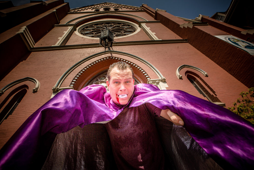 Electric Six, fronted by singer Dick Valentine, pictured, performs tonight at One Centre Square in Easton.  (Courtesy Photo)