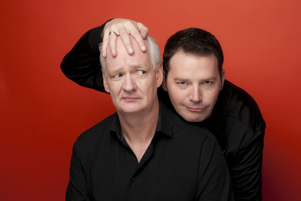 Colin Mochrie, left, and Brad Sherwood return Nov. 18 to the State Theatre in Easton.  (Courtesy Photo)