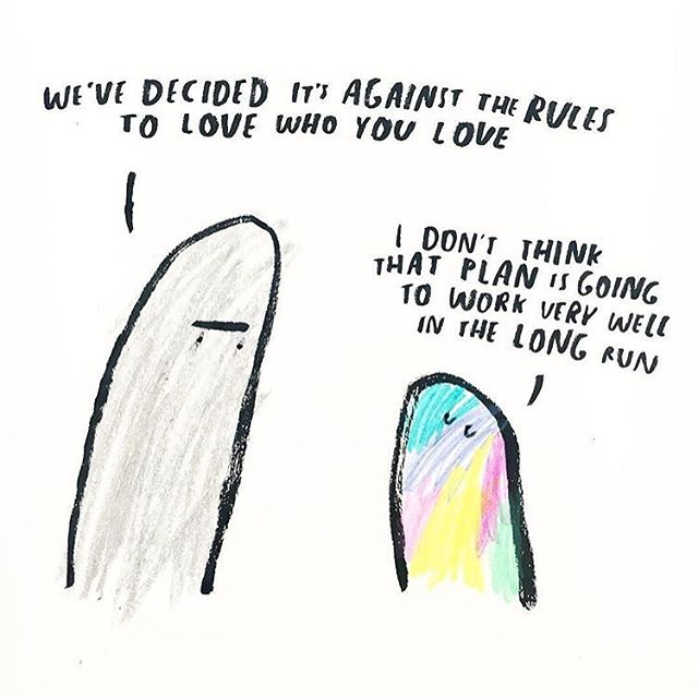 ❤️💛💚💙💜💖 via @dallasclayton. Happy #pride. Love is love is love ❤️💛💚💙💜💖