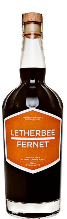 FERNET Letherbee's freshly refined take on the signature digestif is smooth, perhaps startlingly so. The prominence of saffron evokes popular Fernets, but supporting notes of rhubarb root and myrrh gum scaffold the palate as to not let bitter notes overpower. Spearmint and eucalyptus lend a subtle, pleasant mentholated finish. Given Letherbee's penchant for balanced flavors, this Fernet is versatile—shoot it, sip it after a meal, add it to coffee, or mix it in a complex cocktail.