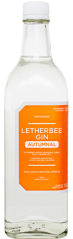 Autumnal 2012   2013's Autumnal Gin from Letherbee Distillers evoked an indoor sort of warmth — that seasonal blend mixed in cloves, nutmeg, and allspice, perhaps best for devilishly spiking a cider.