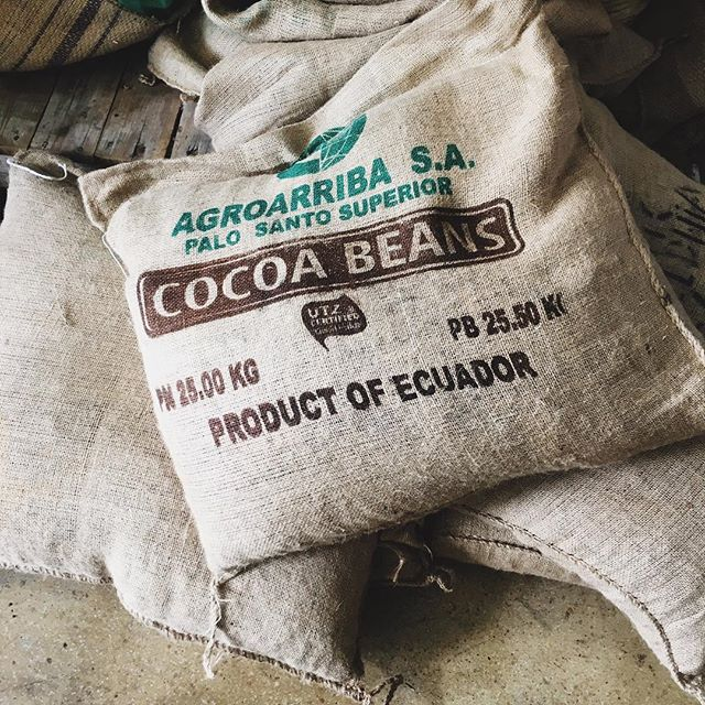 Come in to the Franklin store this weekend to see (and smell) our Ecuadorian cacao being roasted.  Rogers Thompson, lead chocolate maker for Olive & Sinclair, will be here to show you how it's done and answer your questions!