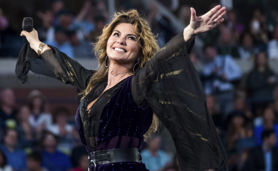 ESPN: Shania Twain brings her comeback at the US Open Tennis 2017   -