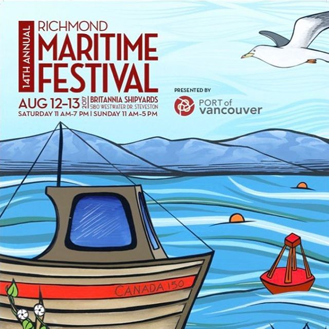 We can't wait for the Richmond Maritime Festival happening this coming weekend, Aug 12 & 13 at @britanniashipyards! 🇨🇦Come visit the #RichmondCanada150 pavilion to make your own button! . . . #RichmondBC #Steveston #britanniashipyards #richmondmaritimefestival #woodenboats #shipboarding #stevestonbc #stevestonvillage #beautifulbritishcolumbia #canada150