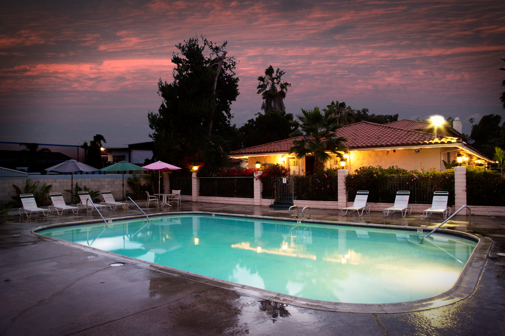 Dusk by our pool!