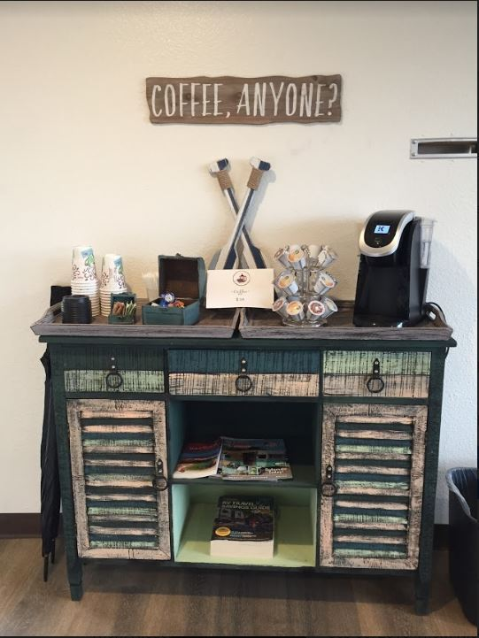 The Coffee Station for a morning pick-me-up...