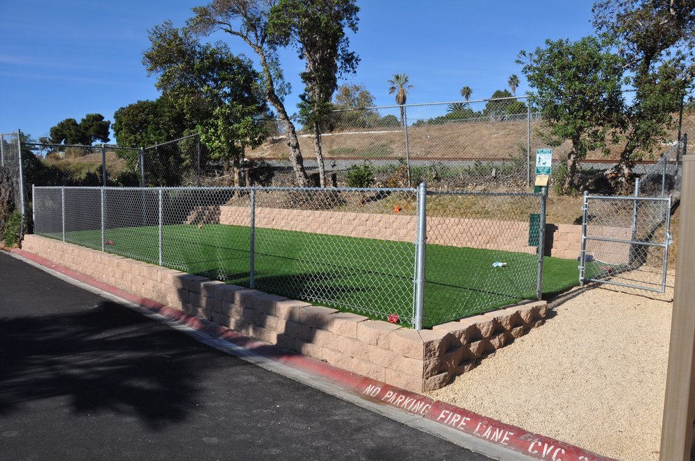 We added a dog park in 2017