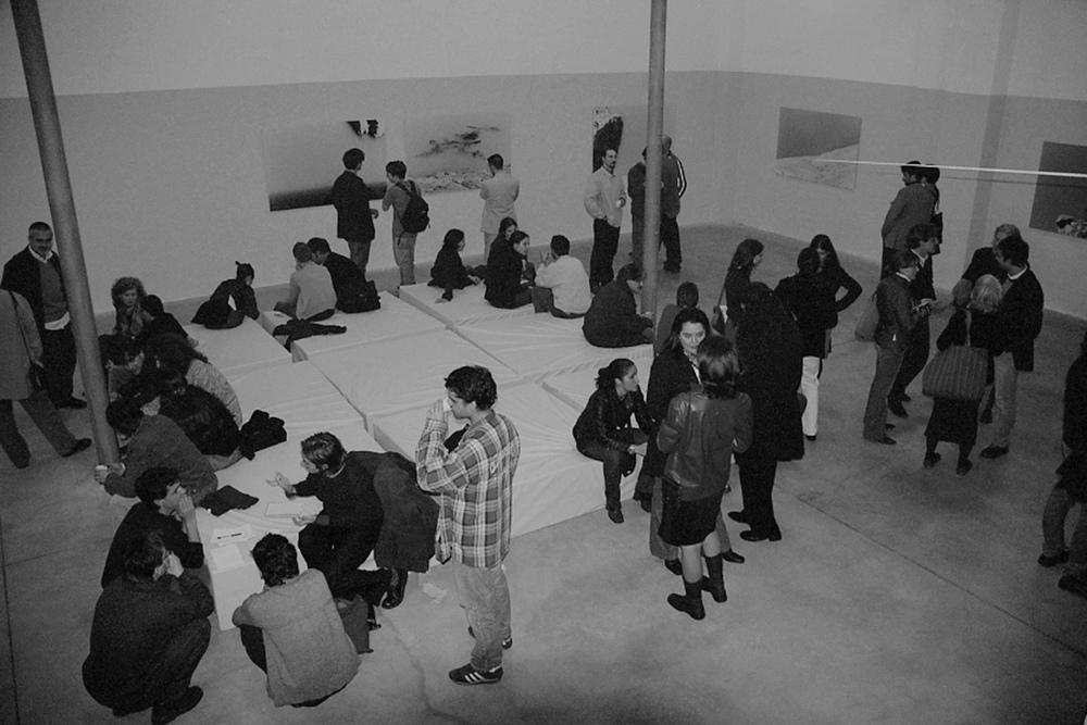 Un attimo prima, opening at Spazio 'O, Milano 2001