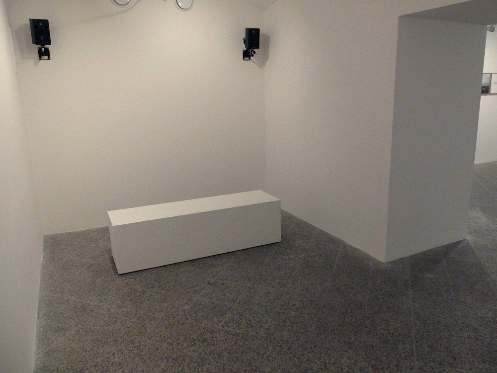 Mi è scesa una nuvola, audio installation, 13'-loop, dimension of the space, 2015