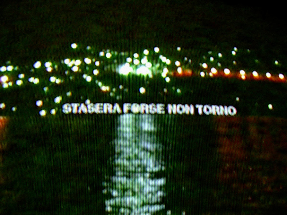 "Stasera forse non torno, 3'30"", digital, color, sound, 2005"