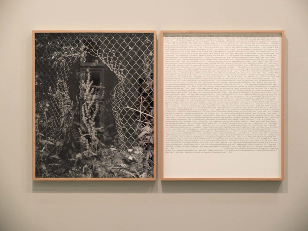 Notes for a book (Dear Michael,), one black and white print on baryte paper 72x88 cm and one inkjet print on paper 72x88 cm, 2017. Unique Edition + 1 AP.