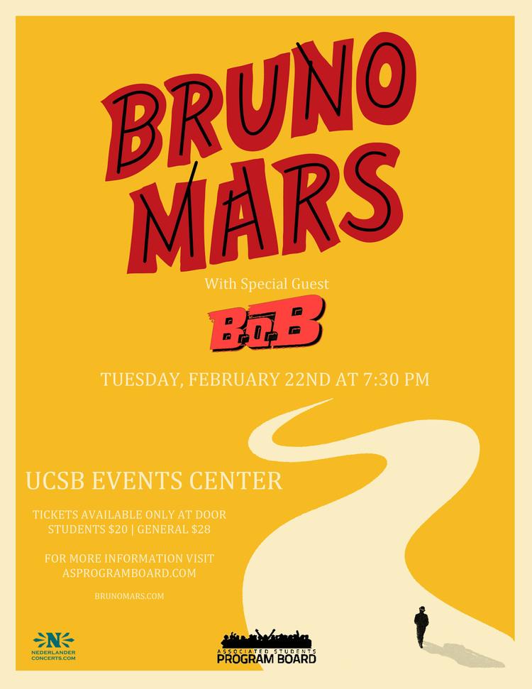 """Bruno Mars with guest B.O.B. "" February 2011"