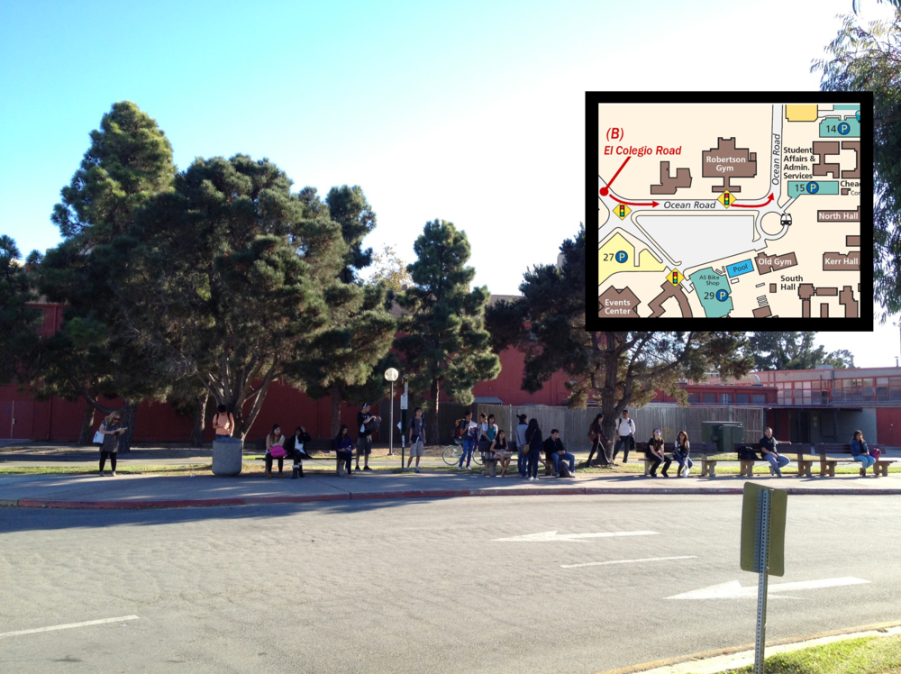 Proposed location for  Wanderers  on the University of California Santa Barbara campus.