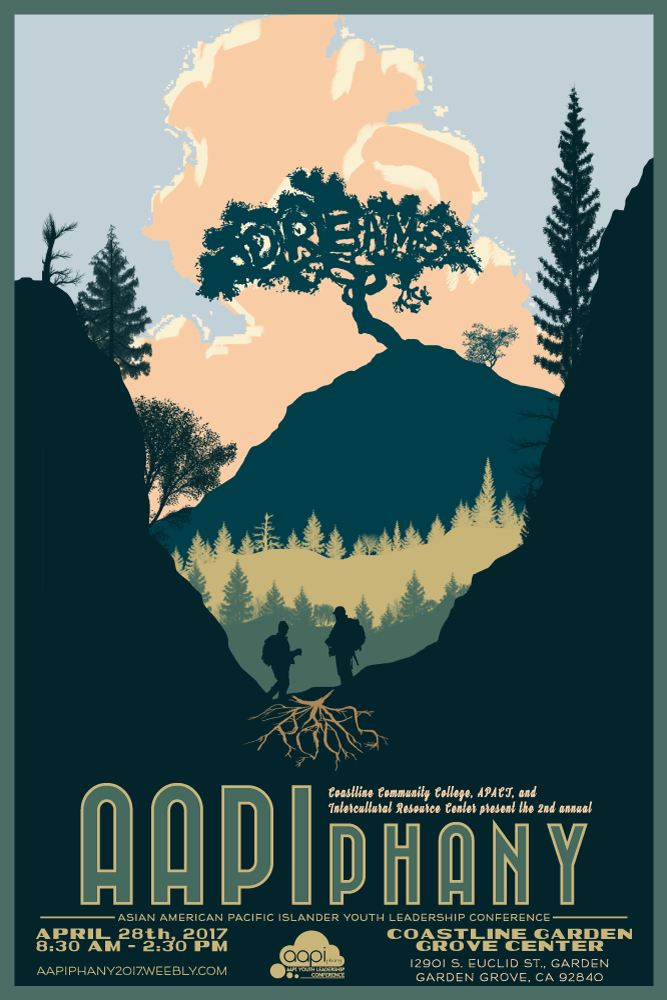 """AAPIphany Event Poster - Final Concept (Journey)   Poster concept in 2:3 ratio for the April 28, 2017 AAPIphany Conference """"Roots:Dreams"""". This was the final chosen design.    2017"""