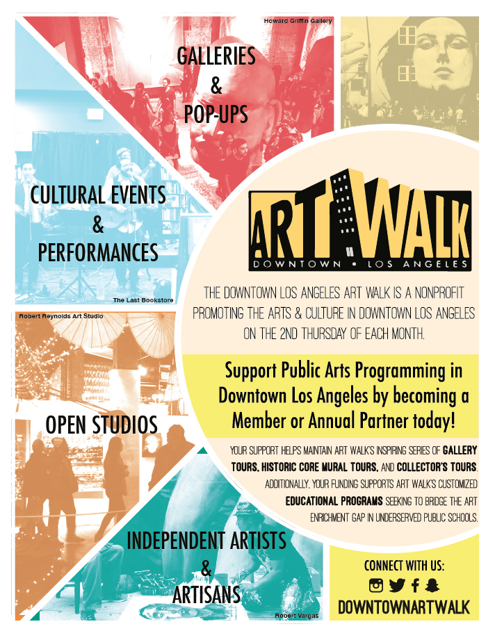 Downtown LA ArtWalk - LA Art Show Catalogue Ad  Developed to advertise LA ArtWalk in the 2016 yearly print edition of the  LA Art Show catalog .  2016