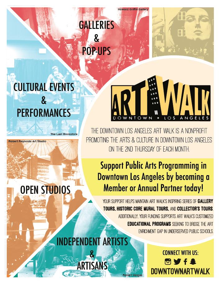 Downtown LA ArtWalk - LA Art Show Catalogue Ad  Developed to advertise LA ArtWalk in the 2016 yearly print edition of the  LA Art Show catalog .  2016