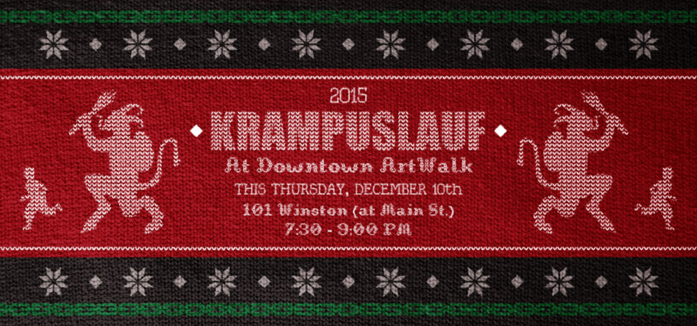 Downtown LA ArtWalk - 2015 Krampuslauf Home Page Banner   Developed to promote the December 10, 2015 Krampuslauf (Krampus Run) taking place during ArtWalk.Graphic used in  downtownartwalk.org .  2015