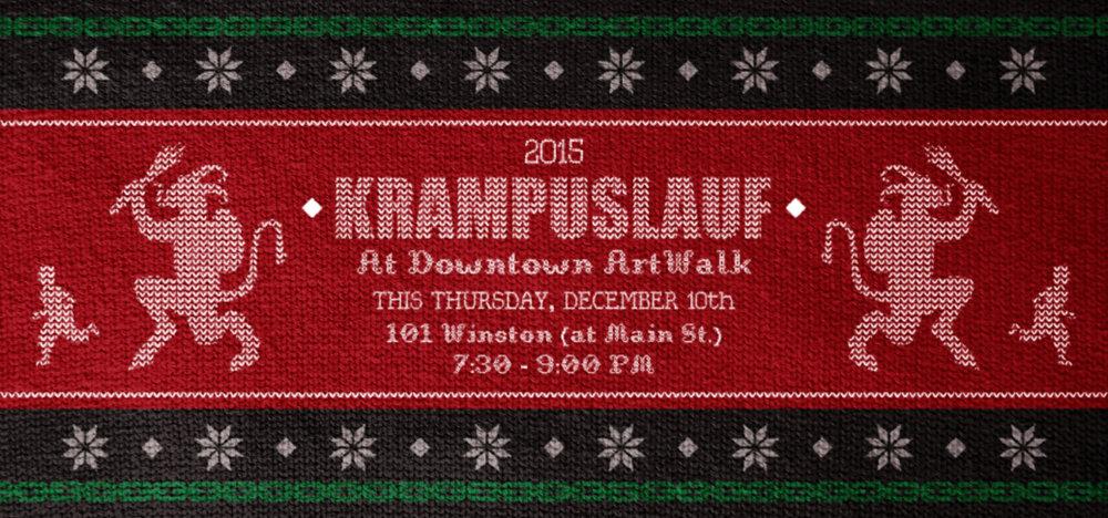 Downtown LA ArtWalk - 2015 Krampuslauf Home Page Banner   Developed to promote the December 10, 2015 Krampuslauf (Krampus Run) taking place during ArtWalk.Graphic used in  downtownartwalk.org .  2015