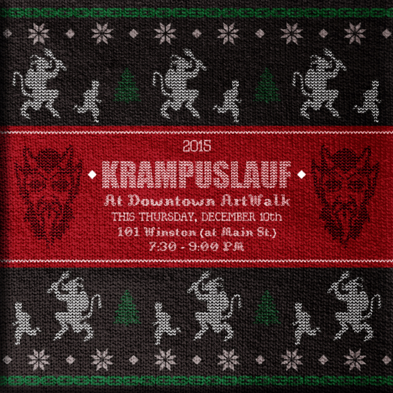Downtown LA ArtWalk - 2015 Krampuslauf Social Media   Developed to promote the December 10, 2015 Krampuslauf (Krampus Run) taking place during ArtWalk.  2015