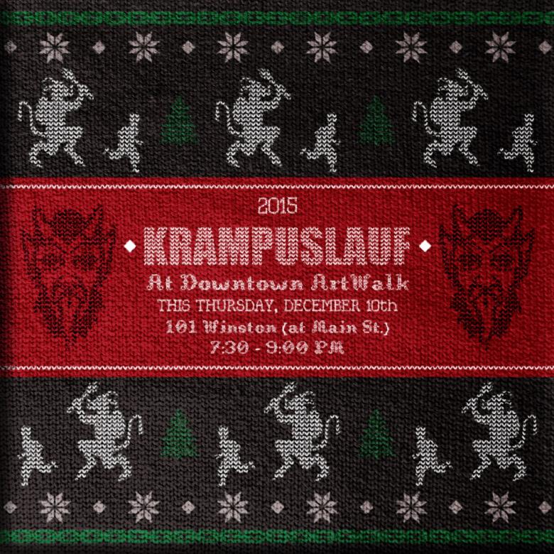 Downtown LA ArtWalk - 2015 Krampuslauf Social Media   Developed to promote the December 10, 2015 Krampuslauf (Krampus Run) taking place during ArtWalk.  2015