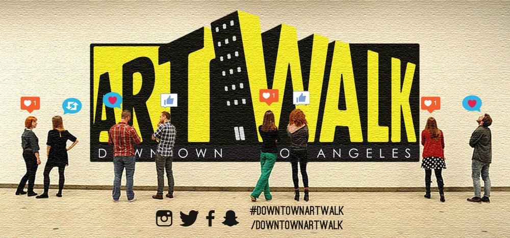 "Downtown LA ArtWalk - Unused Concept (ArtWalk + You Banner)   Unused banner concept for the updated ""ArtWalk + You"" campaign.  2015"