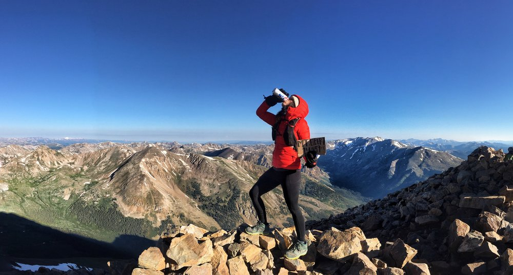 Cheers from 14,439 feet.