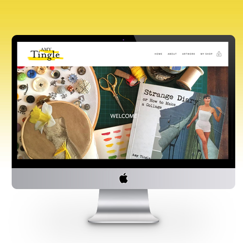 Website Design - for Artist, Magic Maker & Craftivist Amy Tingle