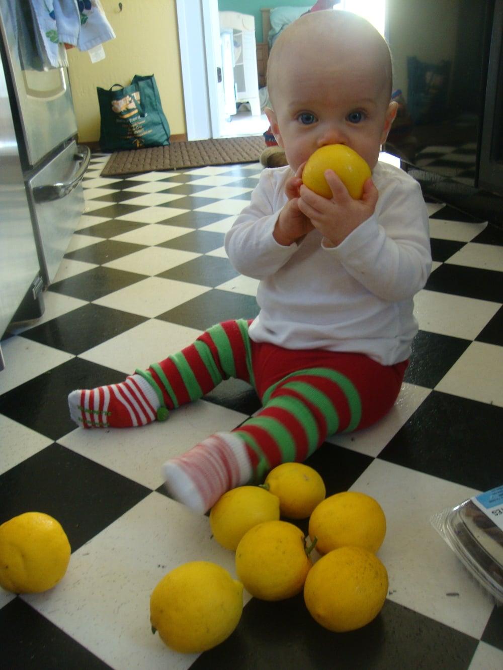 (clockwise from top) solas, lemons, elf pants