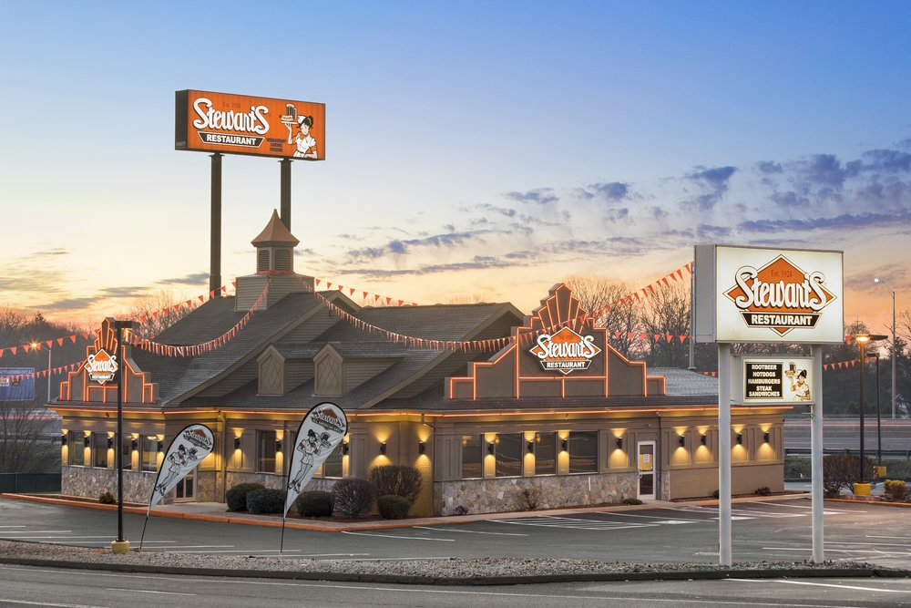 Our new  Flagship  Stewart's All American Restaurant is now open in  West Haven, Connecticut !! The first full service Stewart's in New England!