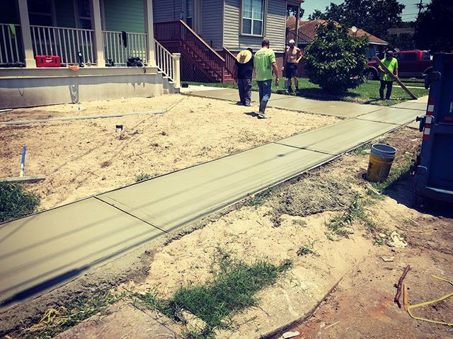Concrete days.  #GCGC #workeveryday #paving #stayoutside #isitsummertimealready