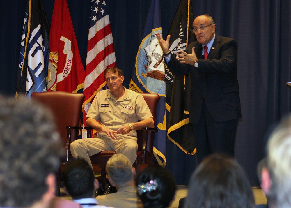 Rudy Giuliani Visits NAVSEA