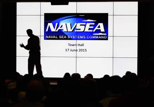 NAVSEA Town Hall Meeting Silhouette