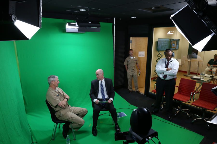 Virtual Studio with Green Screen Digital Technology