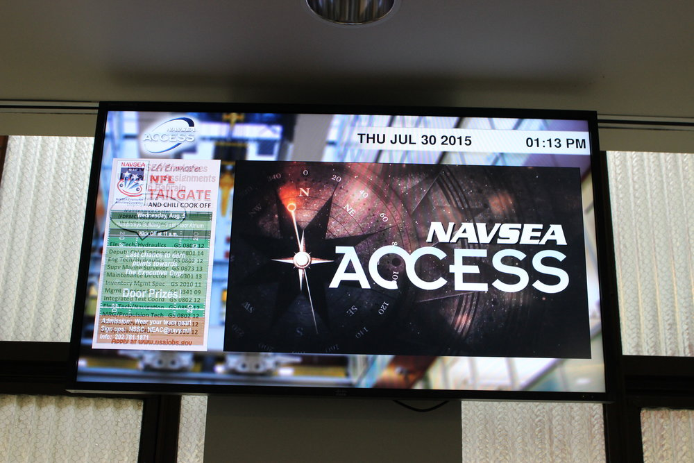 NAVSEA Digital Signage Multimedia Support