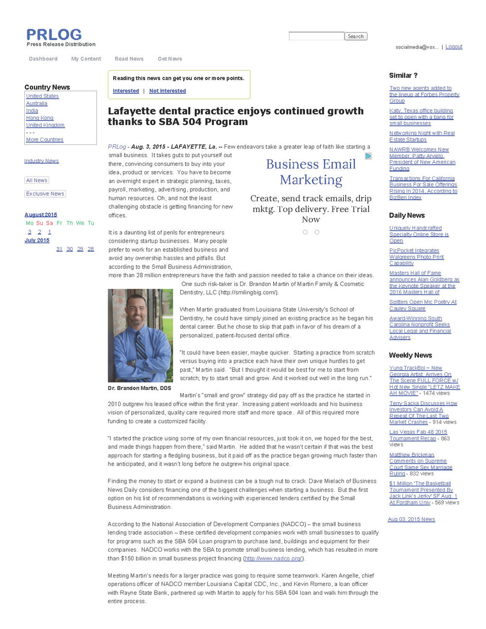 Lafayette dental practice enjoys continued growth thanks to SBA 504 Program _ PRLog_Page_1.jpg