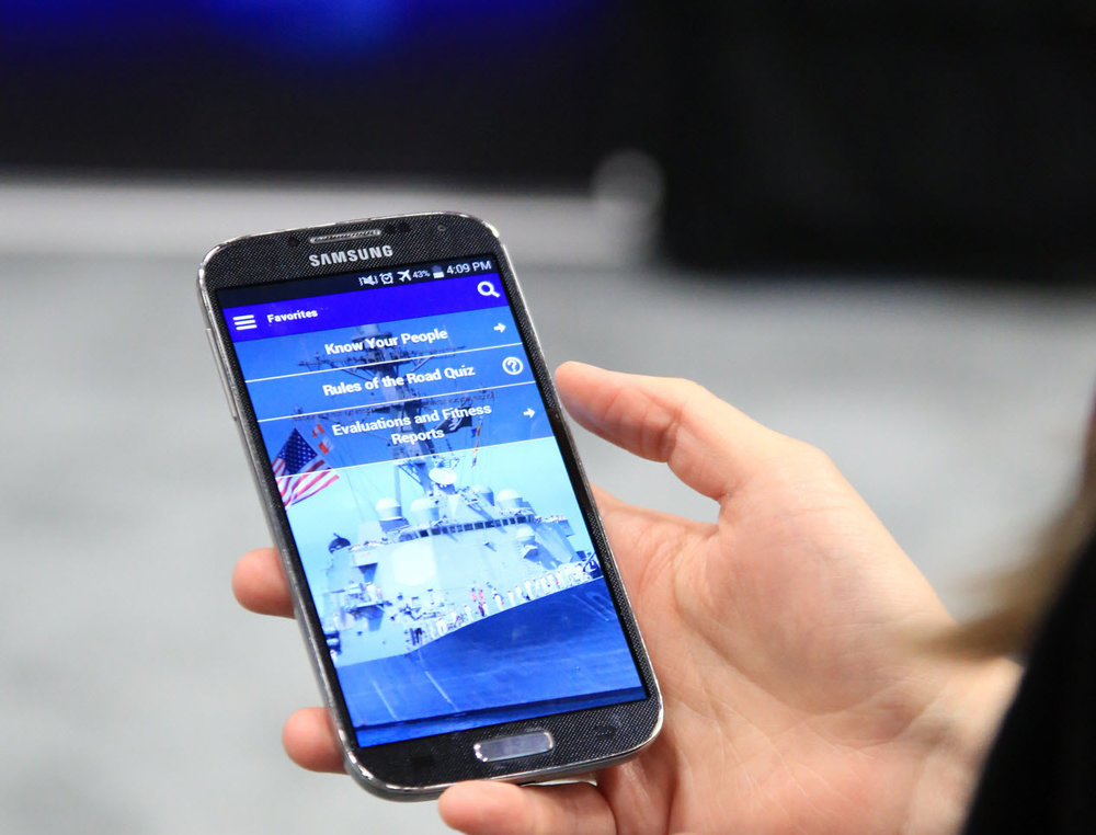 PMW 240-created mobile app supporting Navy division officers (U.S. Navy photo).