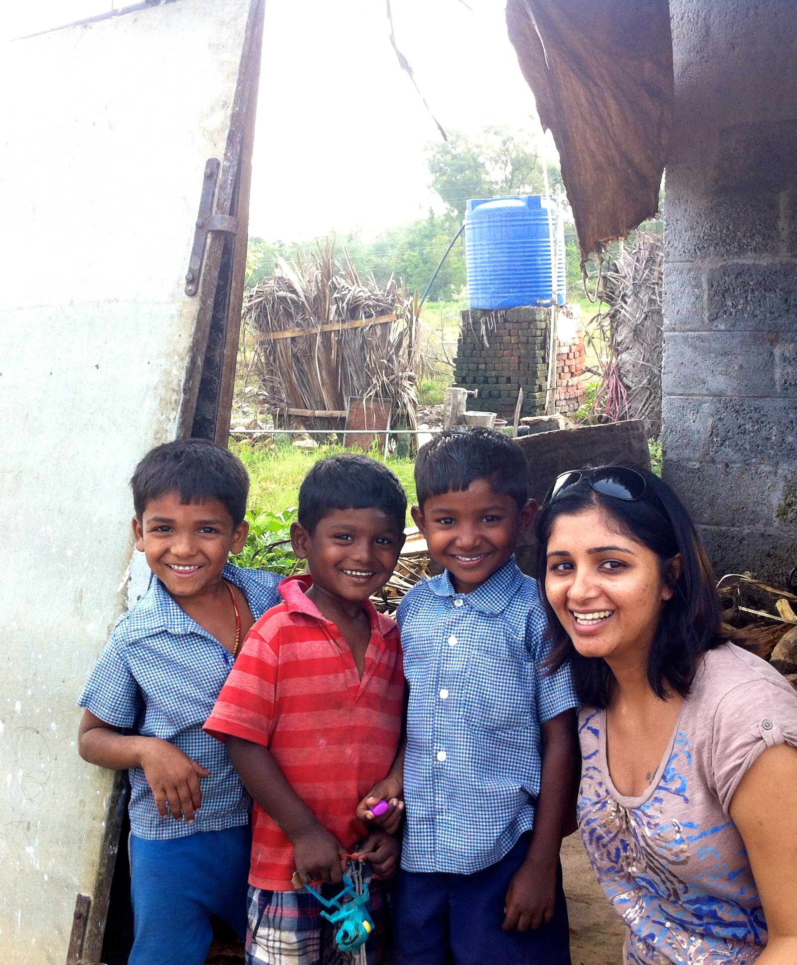 My cousin Nithya and these wonderful kids