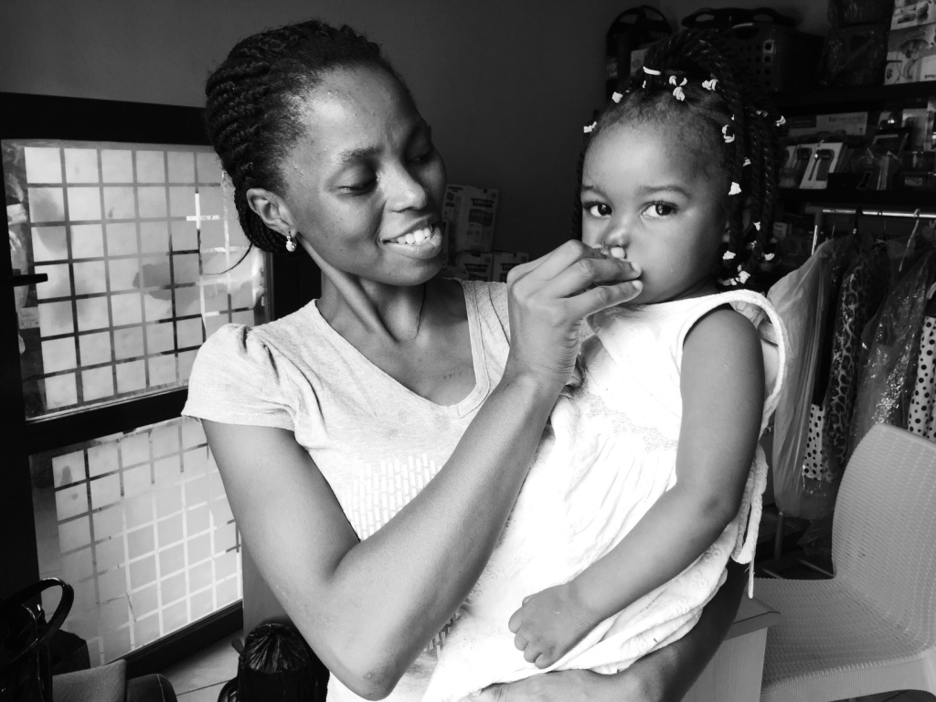 Baby Michelle and her mama!