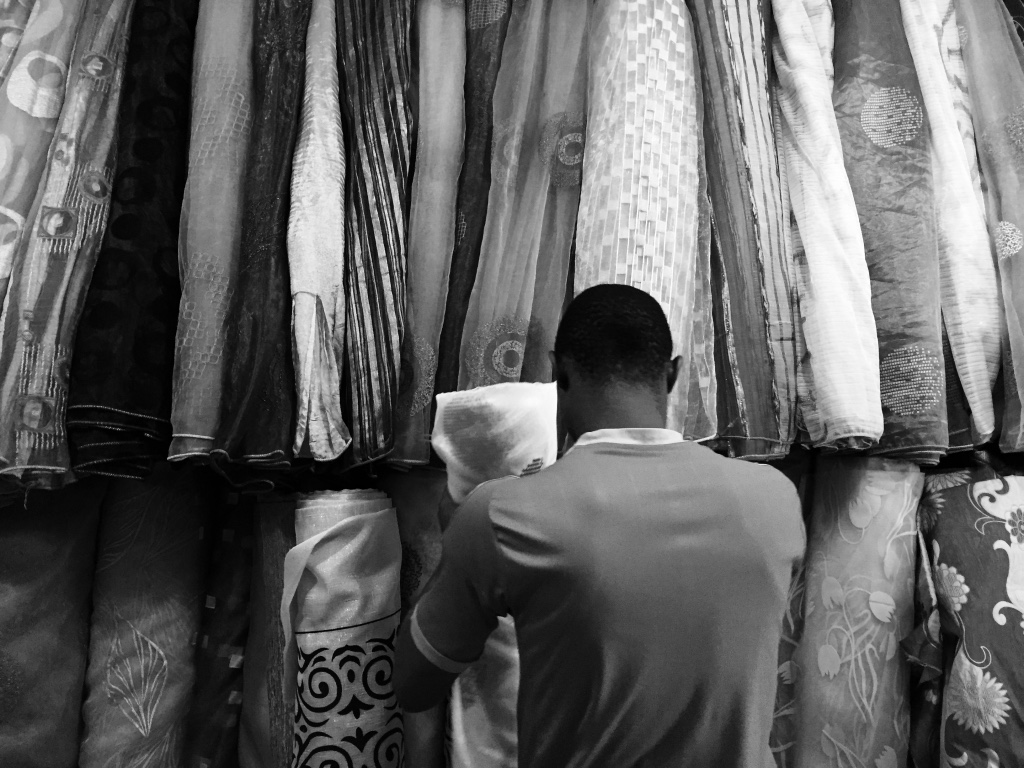 A fabric shop at Ikorodu Market.