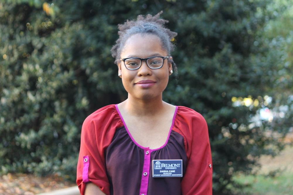 Secretary Daisha Cane  daisha.cane@pop.belmont.edu | (615)732-9115