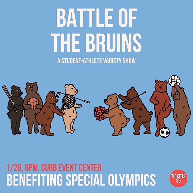 Don't forget, Battle of the Bruins is THIS Sunday!!!!!! (photo cred: Belmont Athletics)